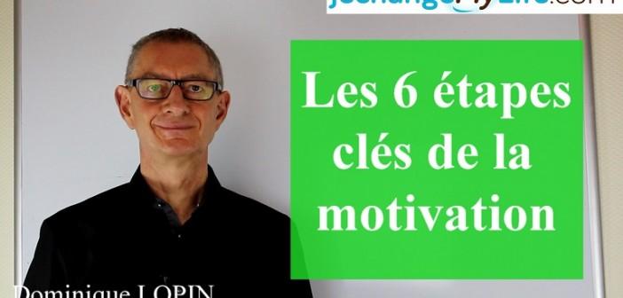 Les 6 étapes clés de la motivation. jechangemylife.com