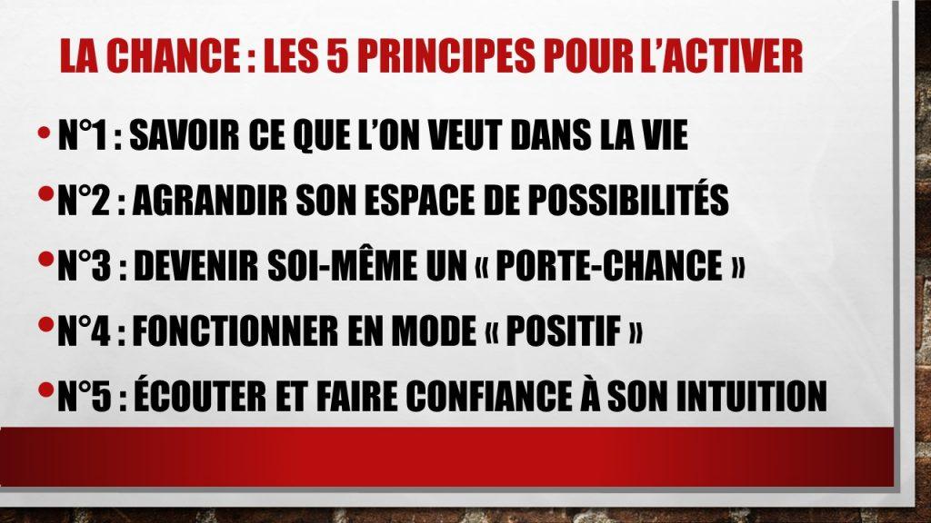 Les 5 principes à connaitre pour activer la chance. jechangemylife.com